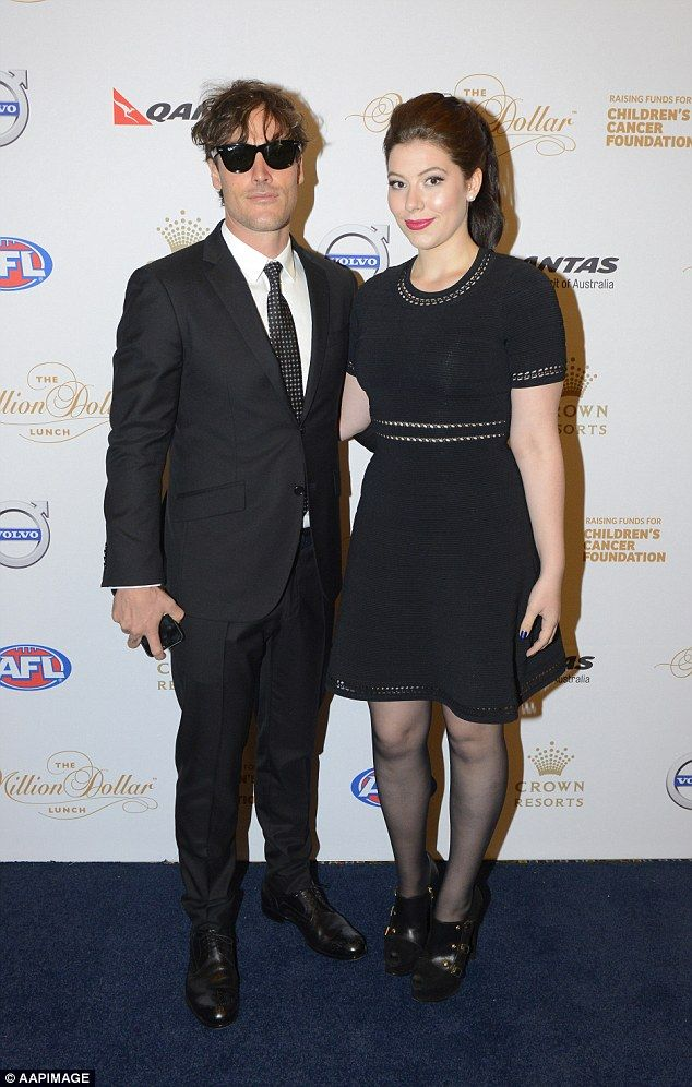 Rock n roll! James Packer's niece Francesca and her rocker beau Joshua Mullane turned out for the soiree