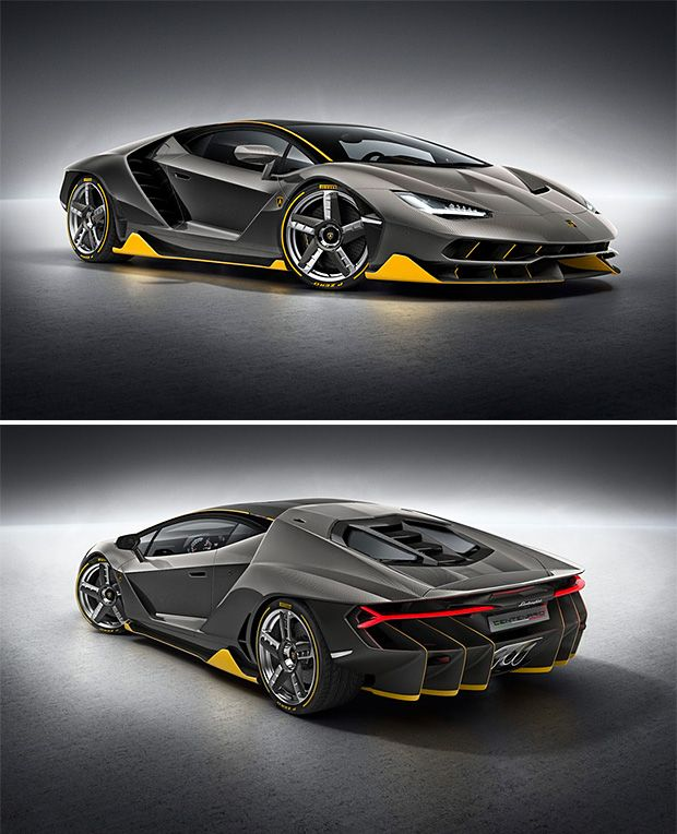 Lamborghini Centenario -- To celebrate its 100th birthday, Lamborghini has created a car truly worthy of the occasion. The 770-horsepower Centario is the most powerful Lambo ever made and features a full carbon fiber body. To go with the neck-snapping speeds: 0-62 in 2.8 & a top-end of more than 217 MPH, the Centenario also has a 10-inch touchscreen in the console with Apple AirPlay as standard equipment. Only 40 will be built. $1.9 M