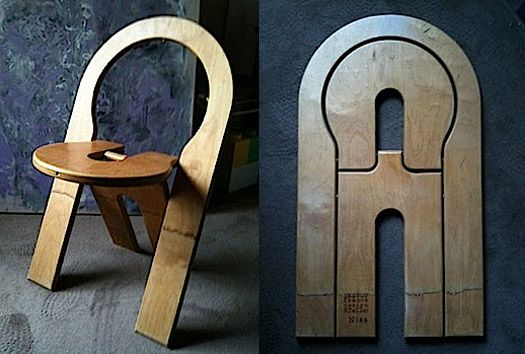 flat-folding chair.                                                    Resembles a Fifth Wheel hitch...