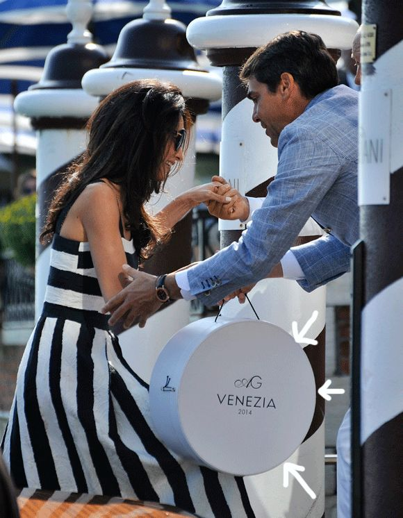 George Clooney + Amal Alamuddin Wedding Monogram - Love the two different types!