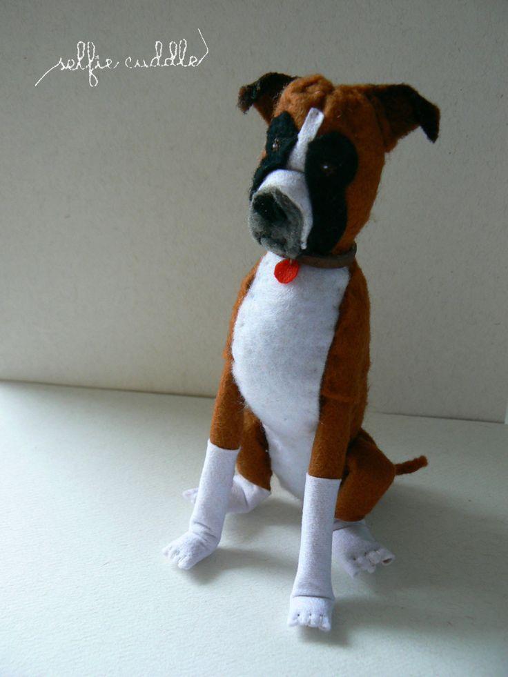 personalised handmade dolls, fabric dolls, animal doll, boxer dog, pet