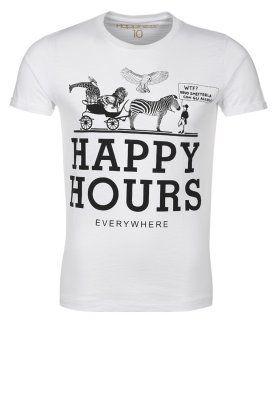 HAPPY HOURS - T-shirts print - hvid