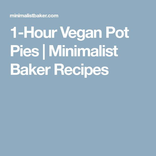 1-Hour Vegan Pot Pies | Minimalist Baker Recipes