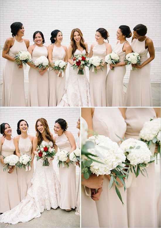 Elegant Garden Glam Wedding Bride Bouquets Bridesmaid