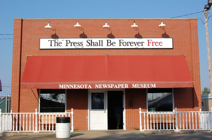 The Minnesota Newspaper Museum, located in Heritage Square of the Minnesota State Fair grounds.