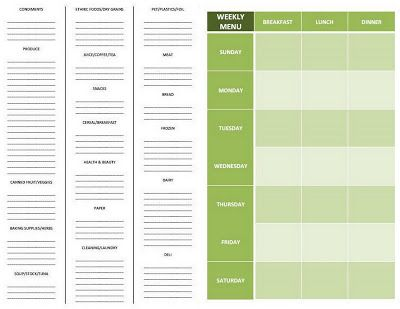 54 best Grocery Template Other Template images on Pinterest - editable shopping list template