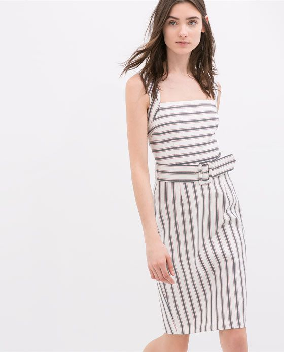 ZARA - NEW THIS WEEK - STRIPED DRESS WITH WIDE STRAPS