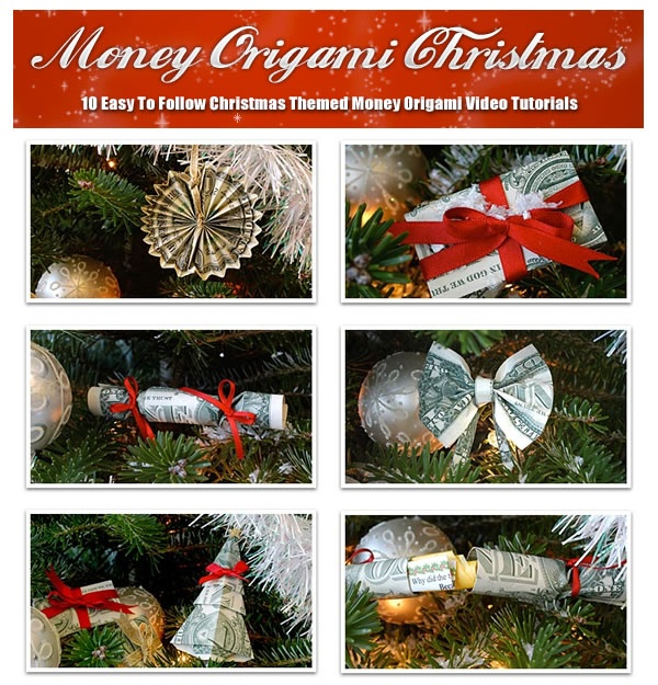 money origami christmas learn how to make 10 beautiful