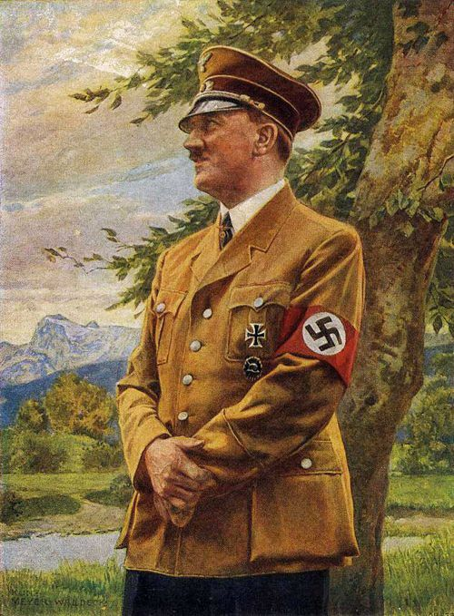 Es Adolf Hitler. 1933 Adolf Hitler es nombrado canciller de Alemania, pronto se convierte en dictador.