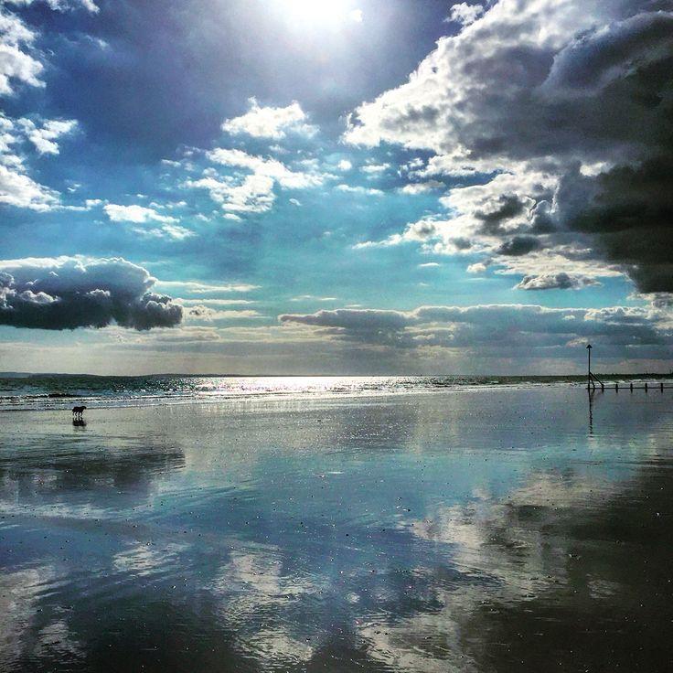 Mirror beach Bracklesham Bay by Lizzie Reakes