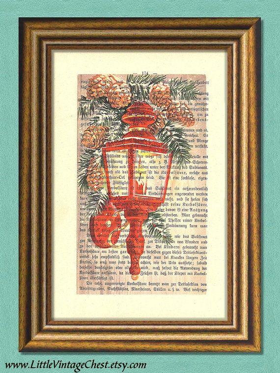 WINTER LIGHT Christmas Print  Dictionary Art by littlevintagechest, $7.99