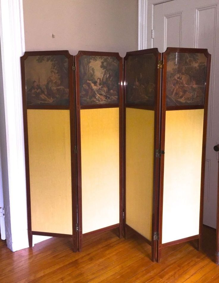 Antique ENGLISH Victorian Screen / Room Divider 1890s | Antiques, Furniture, Other Antique Furniture | eBay!