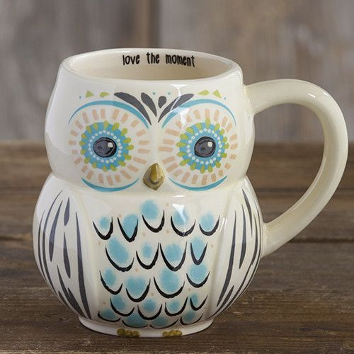 Natural Life Love the Moment Owl Mug
