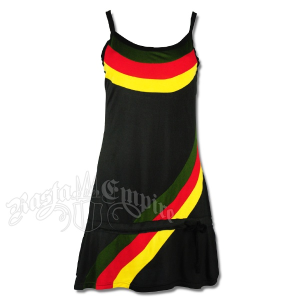Rasta Tank Top Short Dress - Black #rasta #reggae