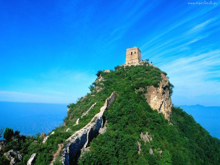 Góra, Ruiny, Zarośla, Morze