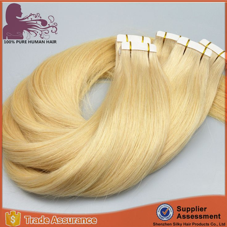 Factory OEM 10 to 30 inch high quality 100% european hair tape hair extension