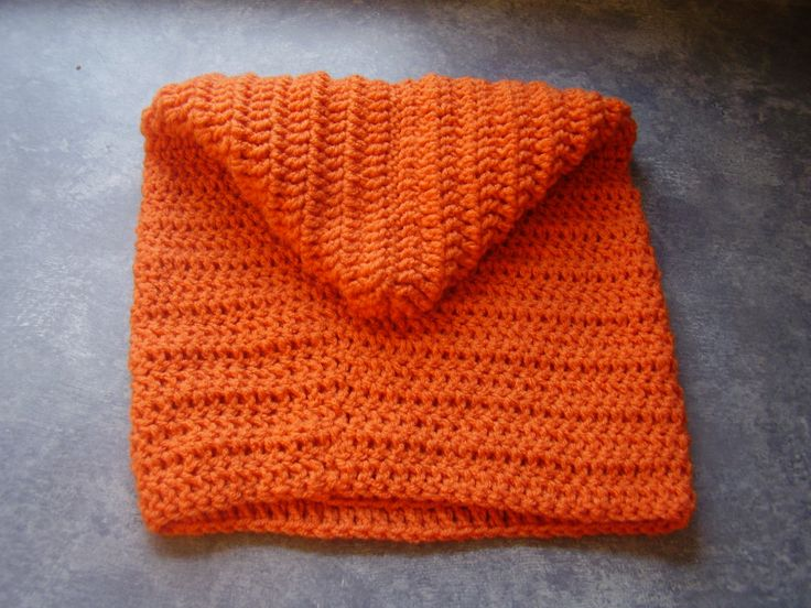 Cowl neck hoodie for child