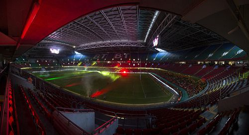 Crowds start to arrive at the Millennium Stadium for the Welsh Varsity Cup Match, 9th April 2014