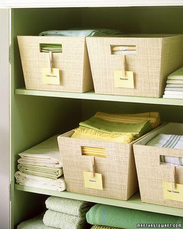 Clip tags onto storage bins