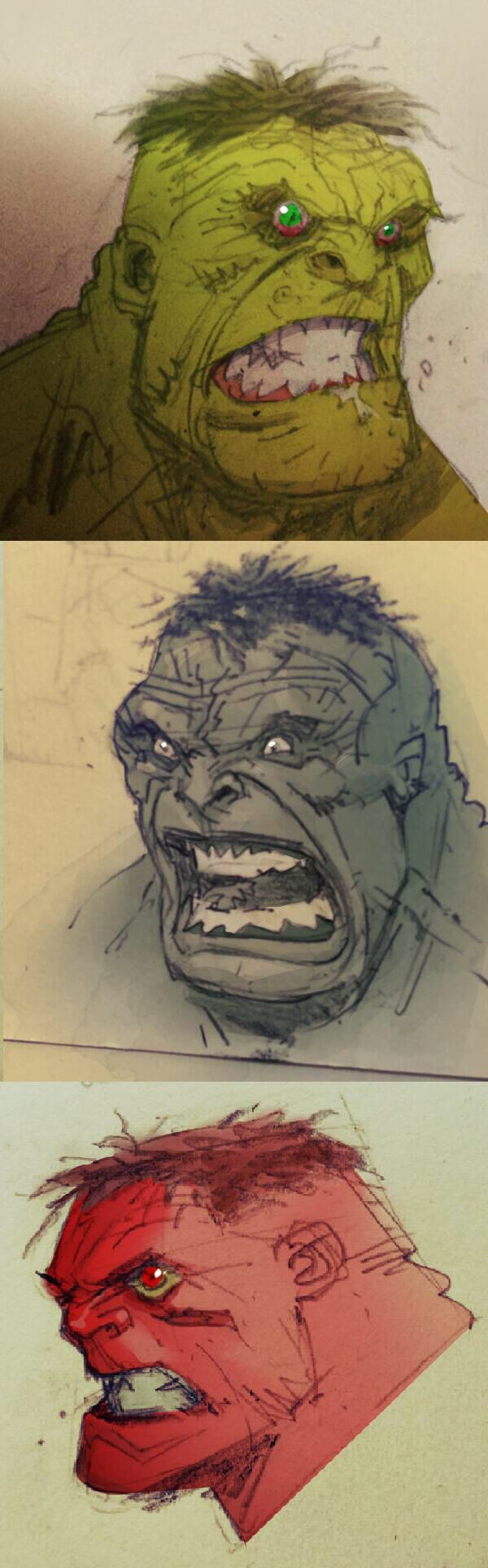 Hulk sketches by Greg Capullo
