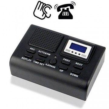Automatischer Telefon-Mitschnittrecorder als Telefon-Abhörgerät