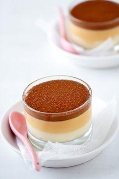 Vainilla, Caramelo y Mousse de Chocolate