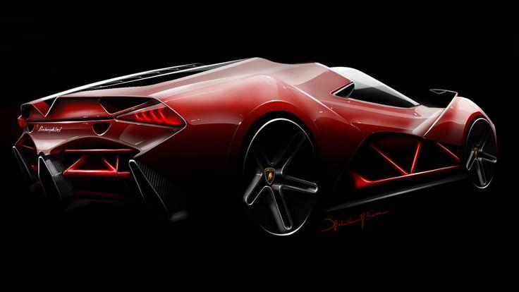 Lamborghini concept, Ashith Mohan on ArtStation at https://www.artstation.com/artwork/Wly0Q