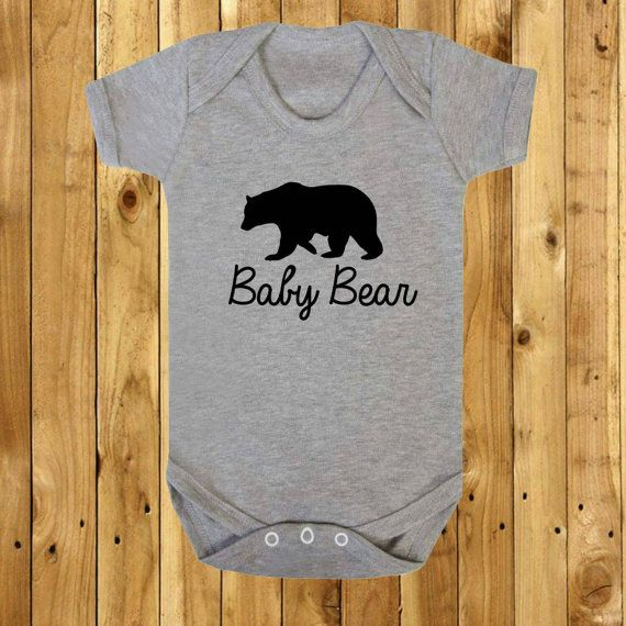 Baby Bear Tshirt Mothers Day Gift Father's by MunchkinsNPumpkinsUK