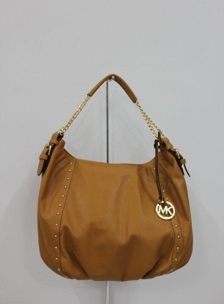 f7febe87a0c7 ... MICHAEL Michael Kors Shoulder Bag Medium Tan Leather ...