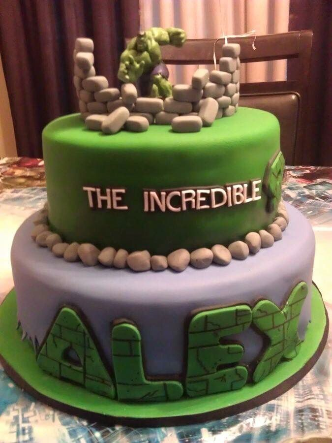 The Incredible Hulk birthday cake