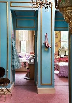 Bohemian Chic Meets the Modern Marie Antoinette: Wall Colors, Boho Chic, Bohemian Chic, Blue Wall, Modern Victorian, Interiors Design, Colors Palettes, Girly Girl, Mary Antoinette