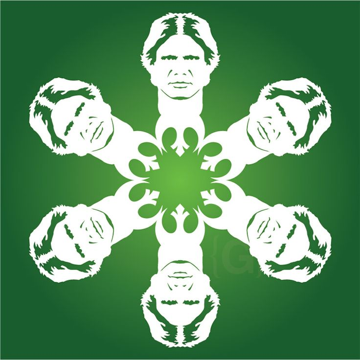 If It's Hip, It's Here: It's Snowing Star Wars Again! 19 New Star Wars DIY Snowflake Templates for 2013. #hansolosnowflake