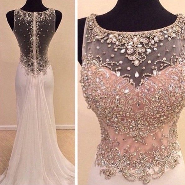 Buy Elegant Long Prom Dress - Pear Pink A-Line Scoop with Rhinestone Prom Dresses 2016 under $179.99 only in Dressywomen.