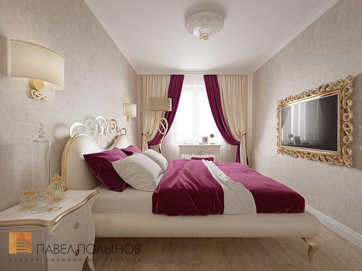 Фото: Спальня - Трехкомнатная квартира в Пушкине в стиле легкой классики, 73 кв.м.