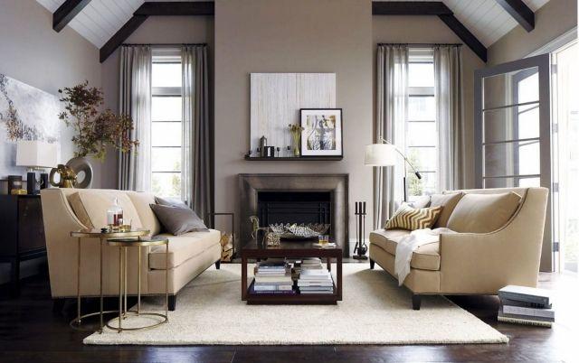 Wohnzimmer Neutrale Farben Grau Beige Satteldach Einrichten Wohnen