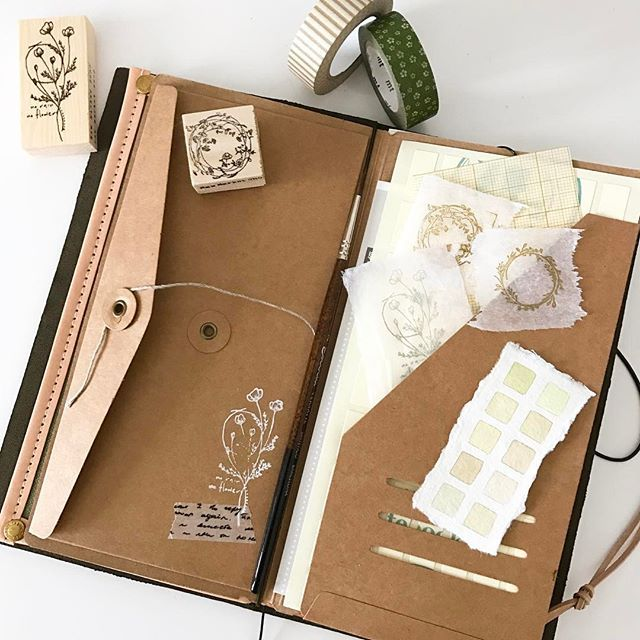 So enjoying setting up my new #oliveedition #travelersnotebook And thank you @rawmarketshop for the beautiful stamps...#travelers #travelerscompany #colourmixing #colourswatch #colourchart #watercolor #watercolourpainting #sennelier #winsorandnewton #rubberstamp #washi #washitape #artjournal #journal #journaling #planner #platinum #iroshizuku #plannerlove #planneraddict #plannercommunity #loveforanalogue