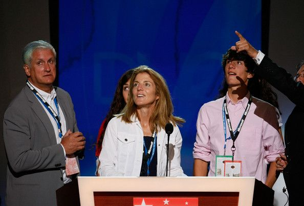 Caroline Kennedy and Edwin Schlossberg Photos Photos - (L to R) Husband Edwin Schlossberg, Caroline Kennedy Schlossberg and  son Jack Schlossberg stand at the podium before the first session of day one of the Democratic National Convention (DNC) at the Pepsi Center August 25, 2008 in Denver, Colorado. The DNC, where U.S. Sen. Barack Obama (D-IL) will be officially nominated as the Democratic candidate for U.S. president, starts today and finishes August 28th. - 2008 Democratic National…