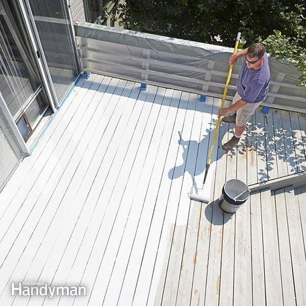<p>restore an old wood deck, even if it's worn, cracked and splintery. simply paint it with a thick, acrylic deck restoration coating, which will create a smooth surface that lasts for years.</p>