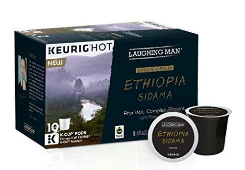 Laughing Man Keurig K- Cups 2 Boxes of 10 (Ethiopia Sidama) * Startling review available here  : K Cups