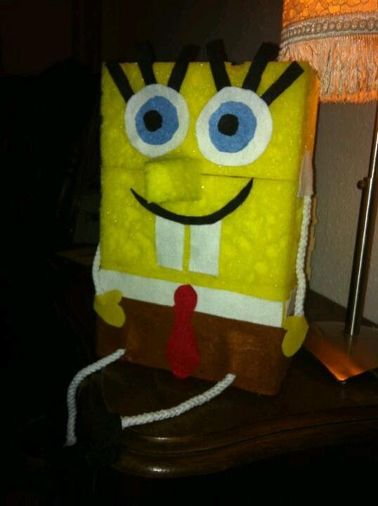 Sinterklaas-surprise van mijn dochter. Samen gemaakt <3 spongebob kidscraft