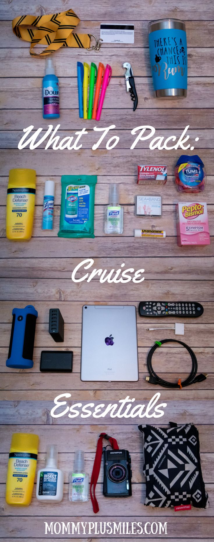 What to Pack: Cruise Essentials including ship, healthcare, entertainment, and excursion essentials.