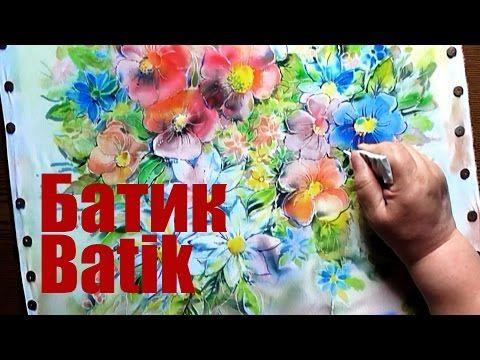 Speed Painting | Hot Batik | Autumn Flowers / Рисуем по Ткани | Горячий Батик | Осенние Цветы - YouTube