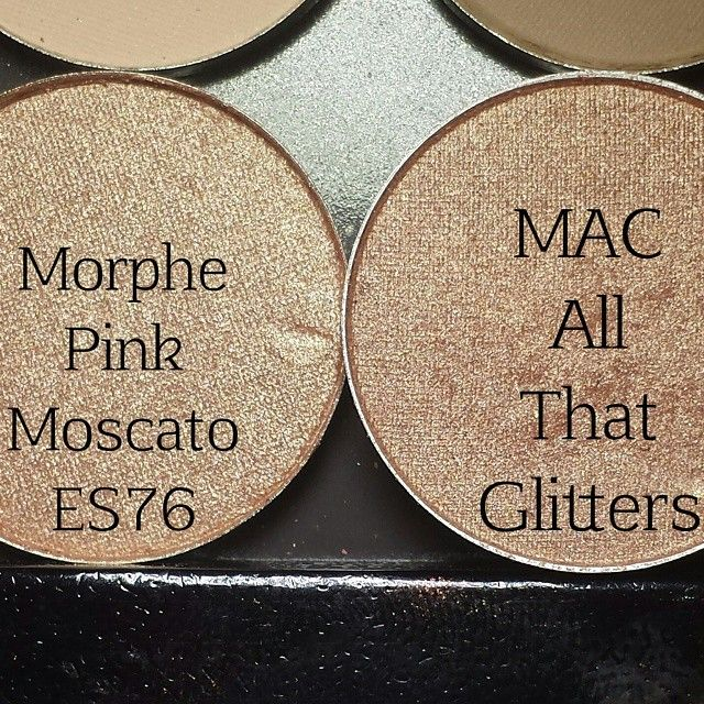 Morphe pink moscato - Mac all that glitters dupe