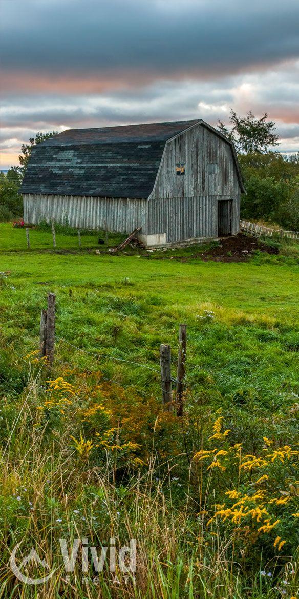 Rural barn photography in New Brunswick Canada.