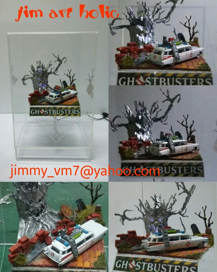 Ghostbuster/ diorama handmade/for collector.