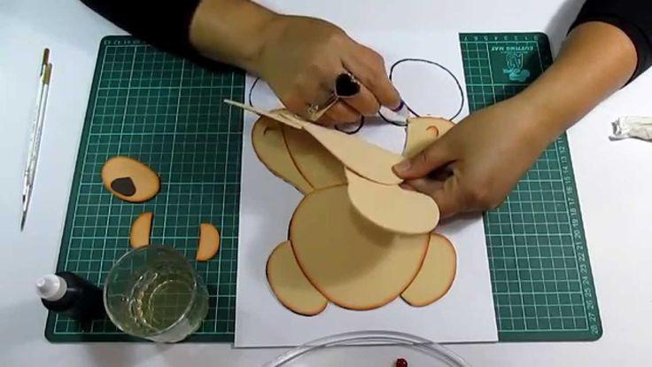 DIY Como Difuminar Osito en Fomi, Goma Eva, Microporoso, Easy Crafts