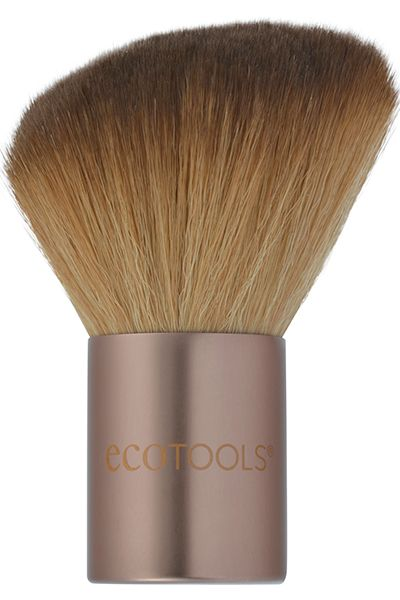The Angled Kabuki brush is the largest and softest in the EcoTools line, allowing for quick natural application. The large head and angle makes sculpting and contouring easy. This multi-functional brush helps to add definition and glow to the face, neck, décolletage and shoulders with a sweep of bronzer or powder. EcoTools Cosmetic Brushes are made with cruelty free synthetic bristles, sustainable bamboo handles