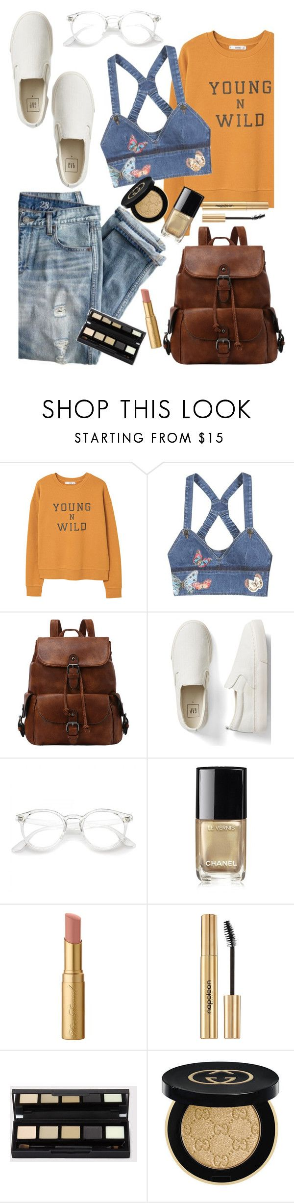 """""""Adventure of a Lifetime: Heidi in Germany"""" by ivyfanfic ❤ liked on Polyvore featuring J.Crew, MANGO, Valentino, Gap, Chanel, Too Faced Cosmetics, Napoleon Perdis and Gucci"""