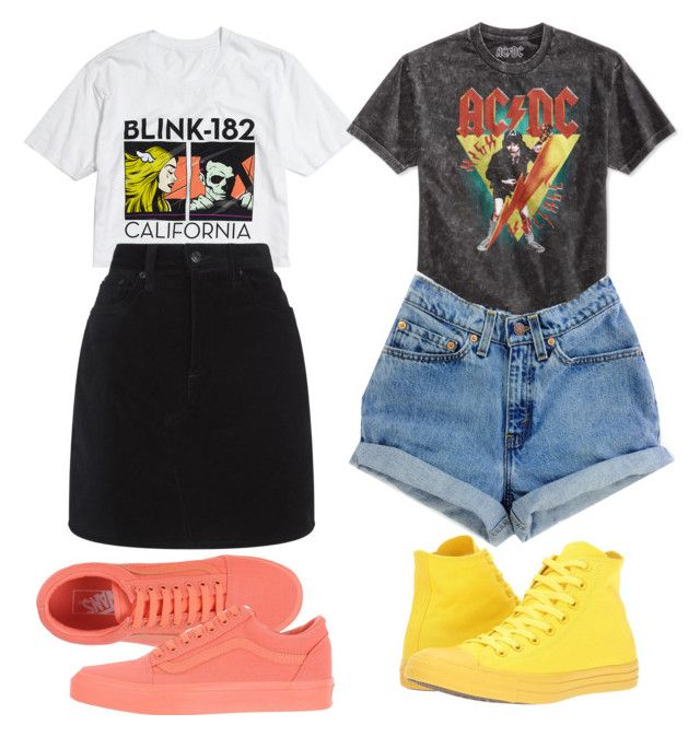 """""""Twins rock outfits"""" by theo-janickova on Polyvore featuring Hot Topic, rag & bone, Converse, Bioworld and Vans"""