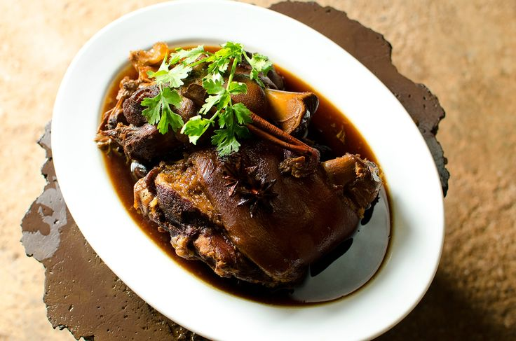 Slow-braised pork hock with star anise and cassia